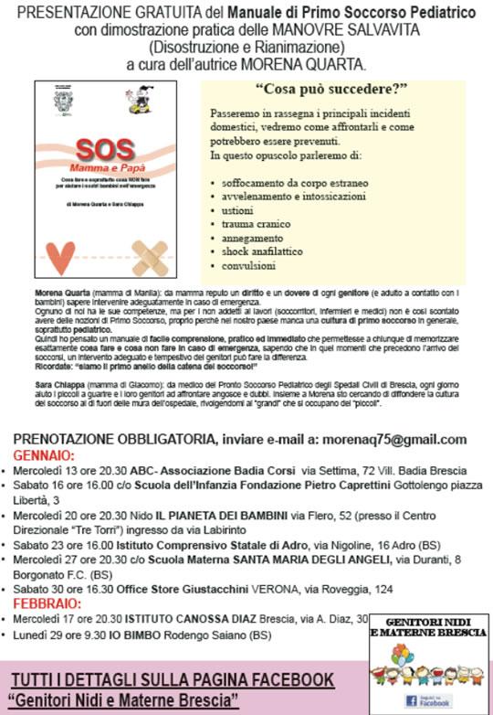Presentazione Manuale Primo Soccorso Pediatrico