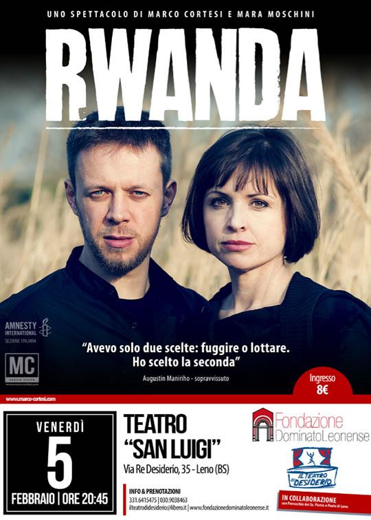 Rwanda uno spettacolo per fare la cosa giusta a Leno