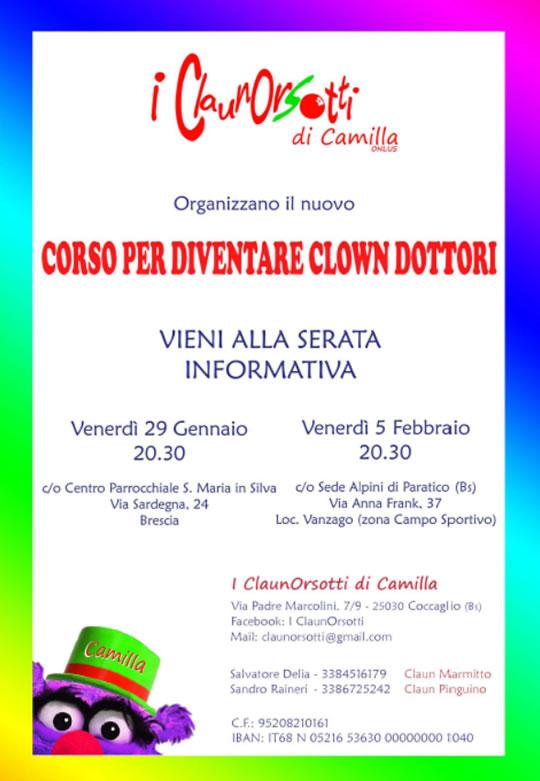 Serata informativa corso di Clownterapia