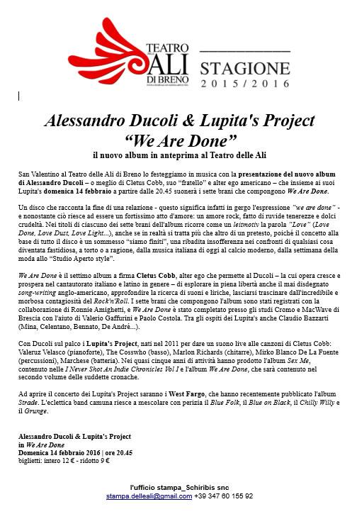 Alessandro Ducoli & Lupita's Project a Breno
