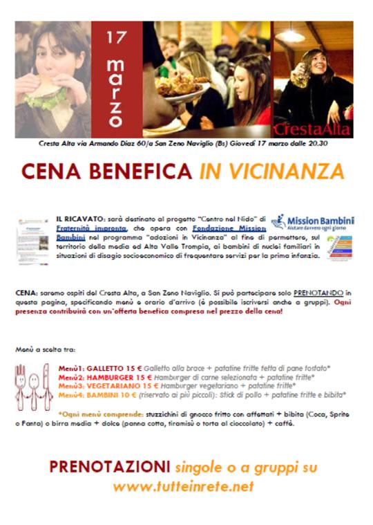 Cena Benefica in Vicinanza a San Zeno