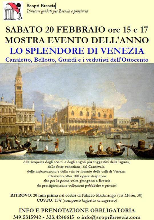 Mostra Lo Splendore di Venezia a Brescia