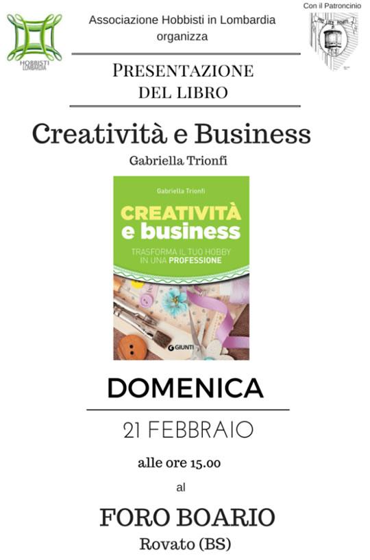 """Presentazione Libro """"Creatività e Business"""" a Rovato"""