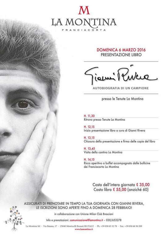 Presentazione Libro Gianni Rivera in Cantina a Monticelli Brusati