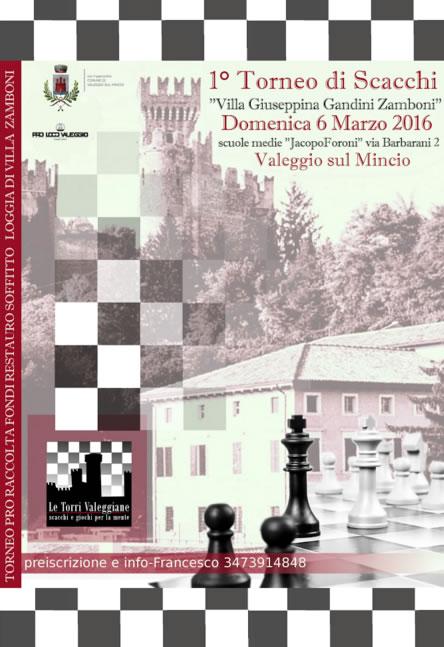 Torneo di Scacchi a Valeggio sul Mincio VR