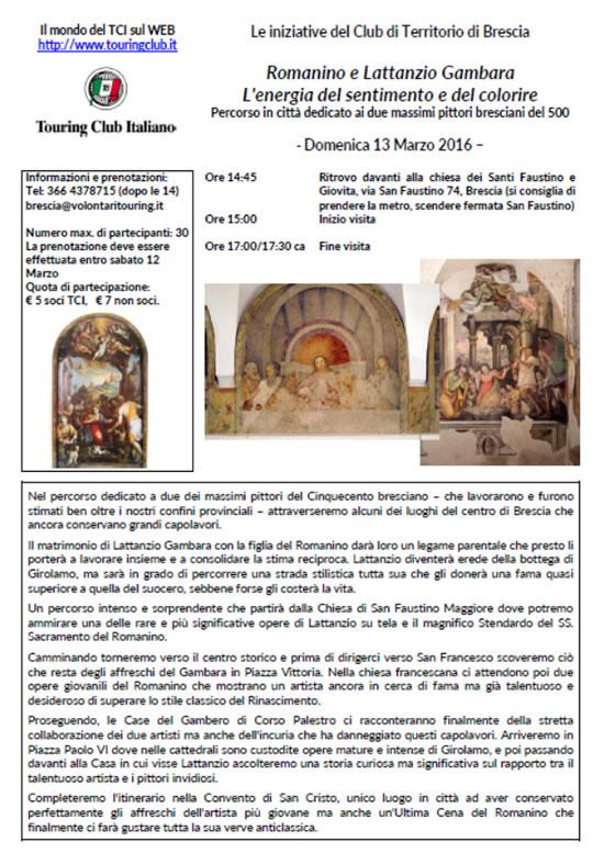 Visita Guidata Romanino e Lattanzio Gambara