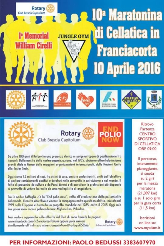 10 Maratonina di Cellatica in Franciacorta