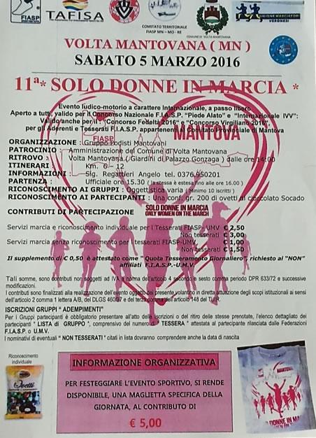 11 Solo Donne In Marcia a Volta Mantovana MN