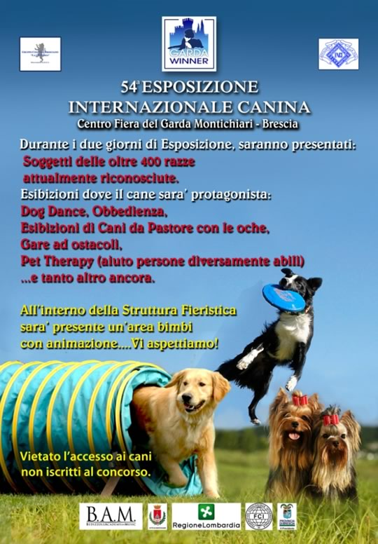 54 Esposizione Internazionale Canina a Brescia