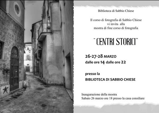 Mostra Fotografica Centri Storici a Sabbio Chiese