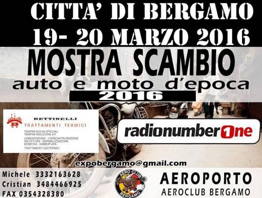 Mostra Scambio Auto e Moto d'Epoca a Bergamo