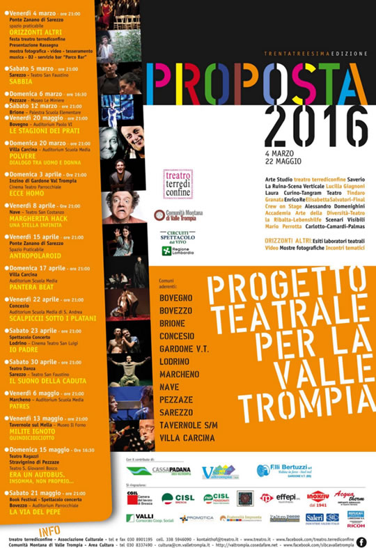 Proposta 2016 Progetto Teatrale per la Valle Trompia