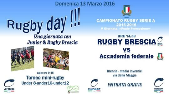 Rugby Day a Brescia