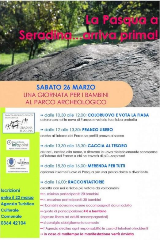 Una Giornata per i Bambini al Parco Archeologico di Capo di Ponte