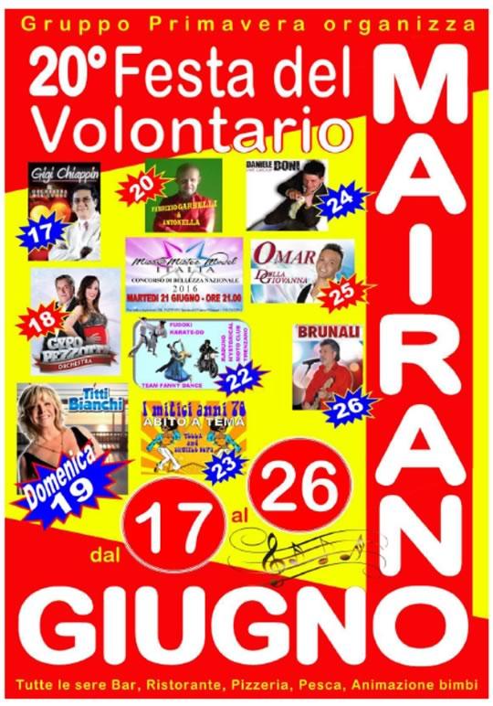 20 Festa del Volontario a Mairano