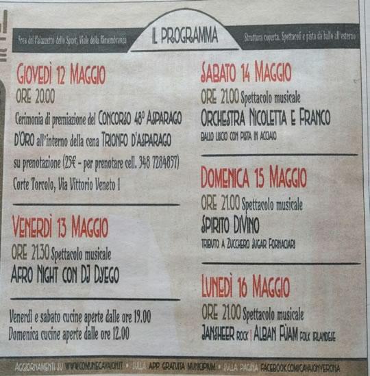 48 Festa degli Asparagi Cavaion Veronese