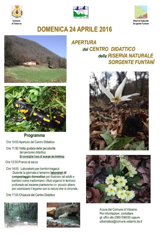 Apertura Centro Didattico Riserva Naturale Sorgente Fontanì  Vobarno