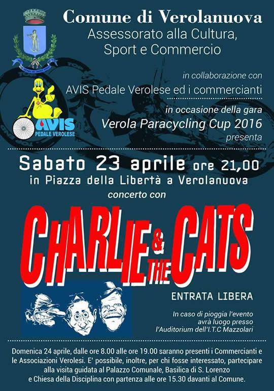 Charlie & the Cats a Verolanuova