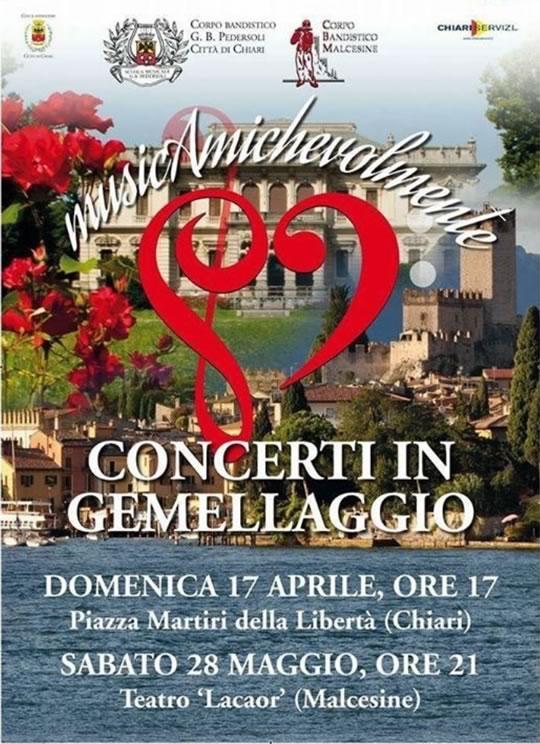 Concerti in Gemellaggio a Chiari e Malcesine
