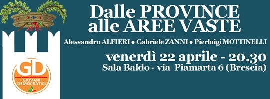 Dalle Province alle Aree Vaste a Brescia