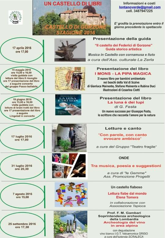 Eventi al Castello di Gorzone Darfo Boario Terme