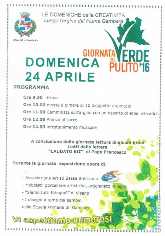 Giornata del Verde Pulito a Gambara