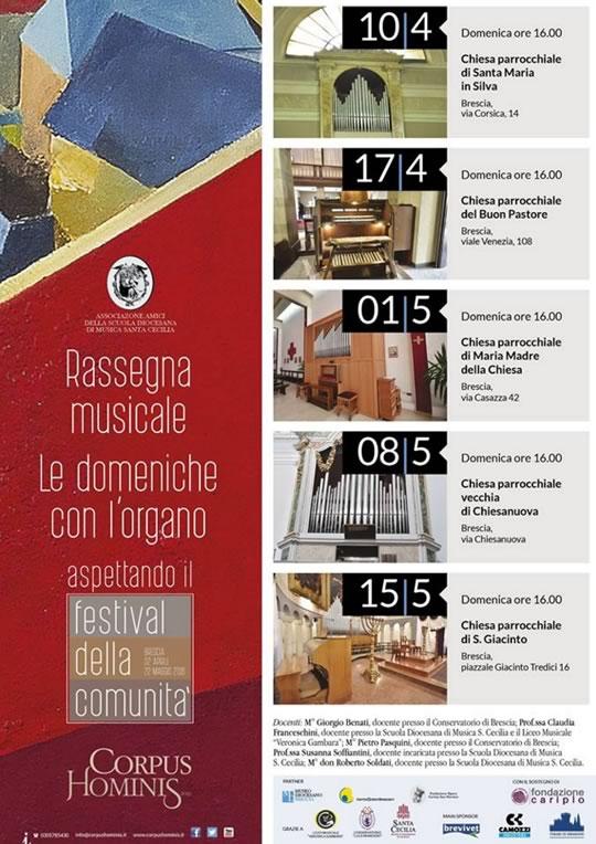 Le Domeniche con l'Organo a Brescia