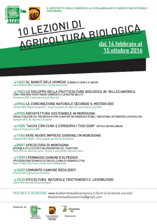Lezioni di Agricoltura Biologica