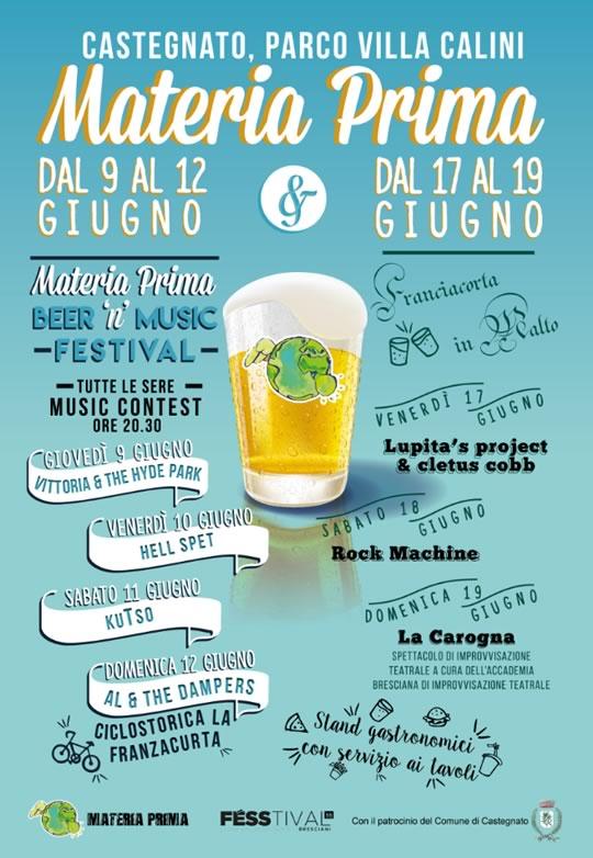 Materia Prima Beer'n Musica Festival a Castegnato