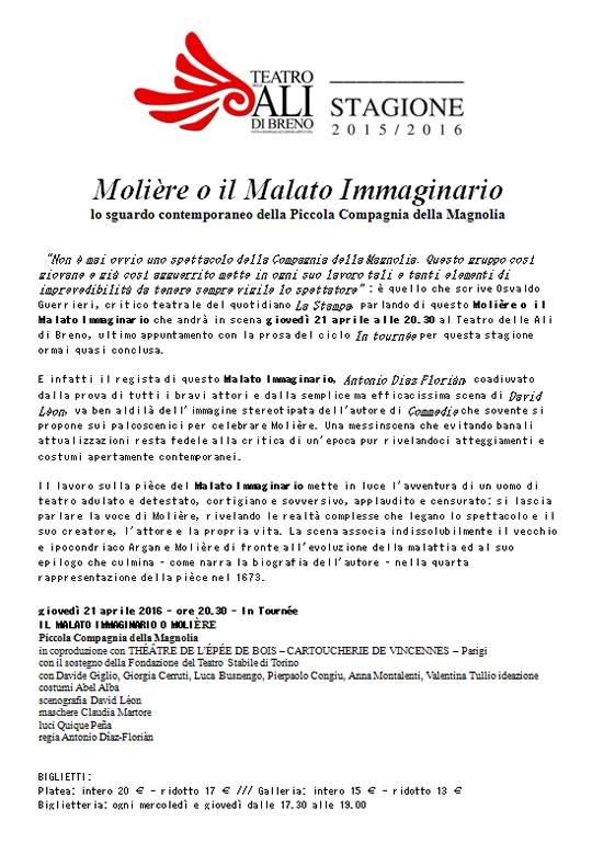 Molière o il Malato Immaginario a Breno