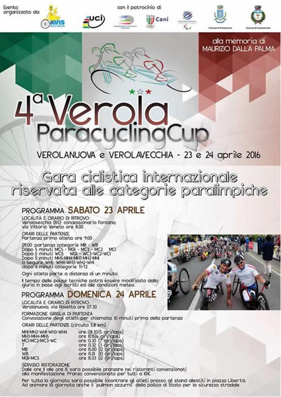 4^ Verola Paracycling Cup a Verolanuova