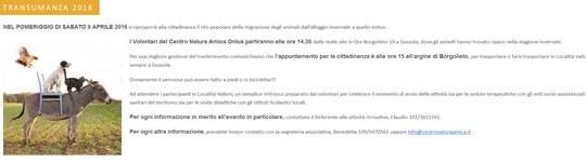 Transumanza 2016 a Gussola CR