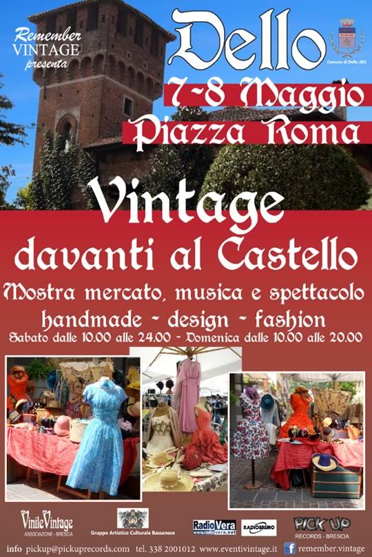 Vintage Davanti al Castello a Dello