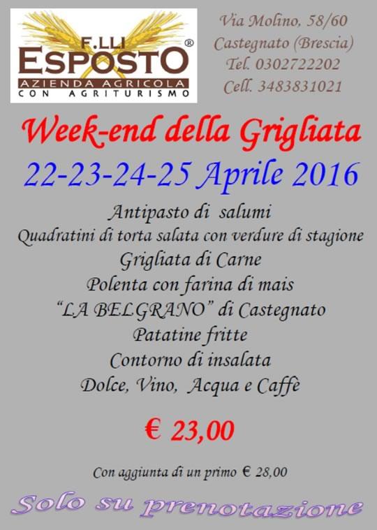 Week-end della Grigliata in Agriturismo a Castegnato