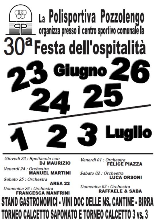 30 Festa dell'Ospitalità a Pozzolengo
