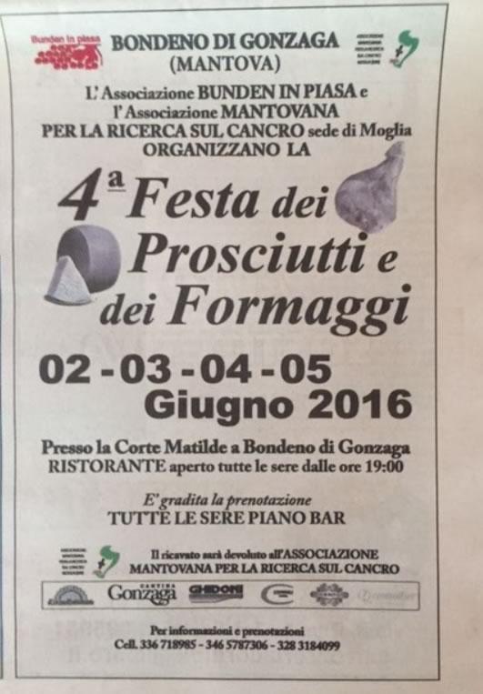 4 Festa dei Prosciutti e dei Formaggi a Gonzaga MN