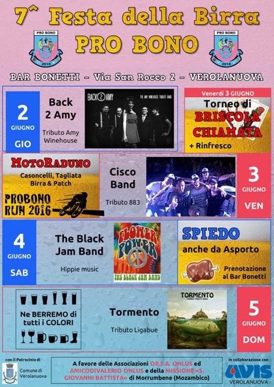 7 Festa della Birra Pro Bono a Verolanuova