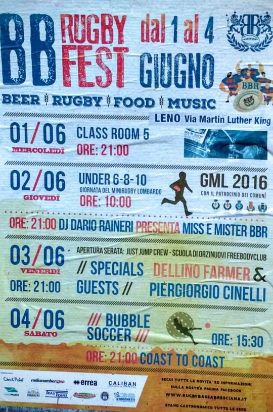 BB Rugby Fest a Leno