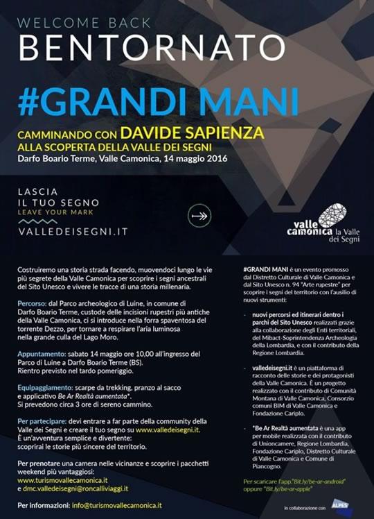 Bentornato Grandii Mani a Darfo Boario Terme