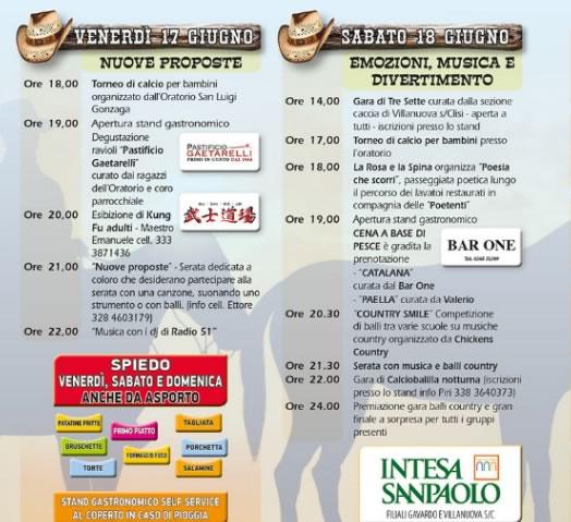 Country Fest a Villanuova sul Clisi
