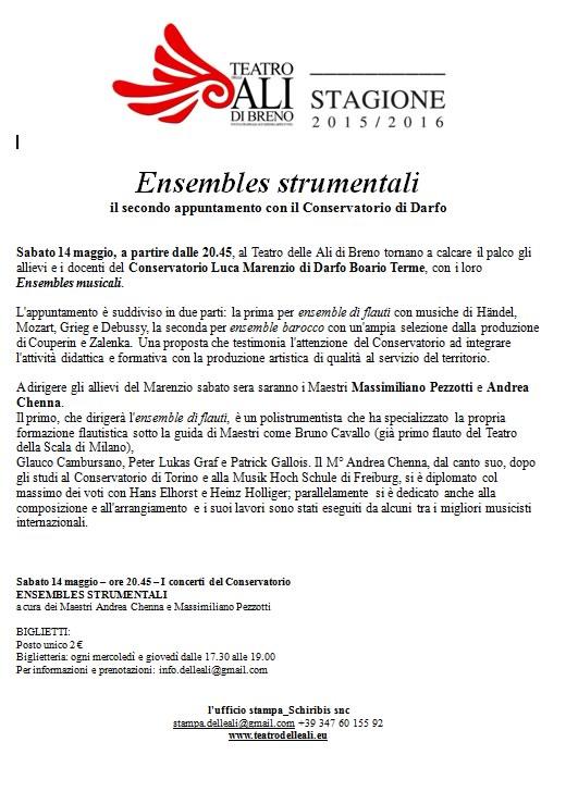 Ensembles strumentali a Breno