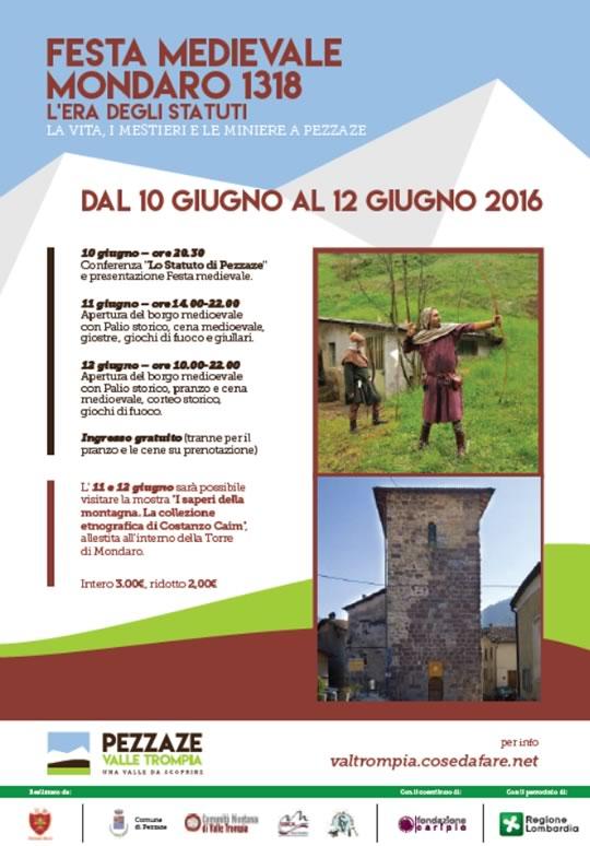 Festa Medievale Mondaro 1318 a Pezzaze