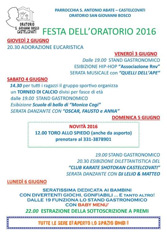 Festa dell'Oratorio a Castelcovati