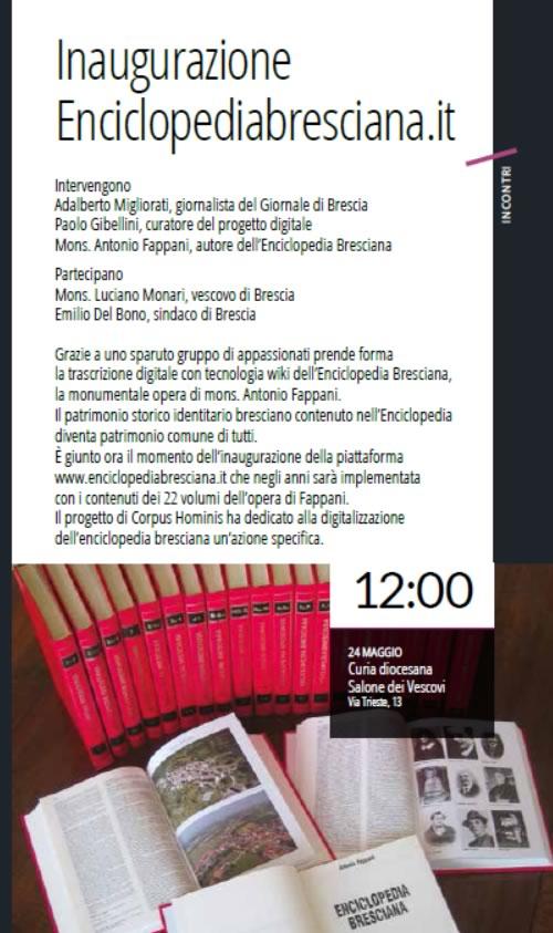 Inaugurazione Enciclopedia Bresciana