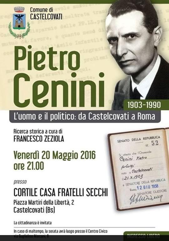 Pietro Cenini, uomo e politico a Castelcovati