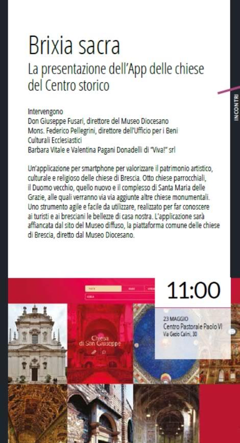 Presentazione App Brixia Sacra