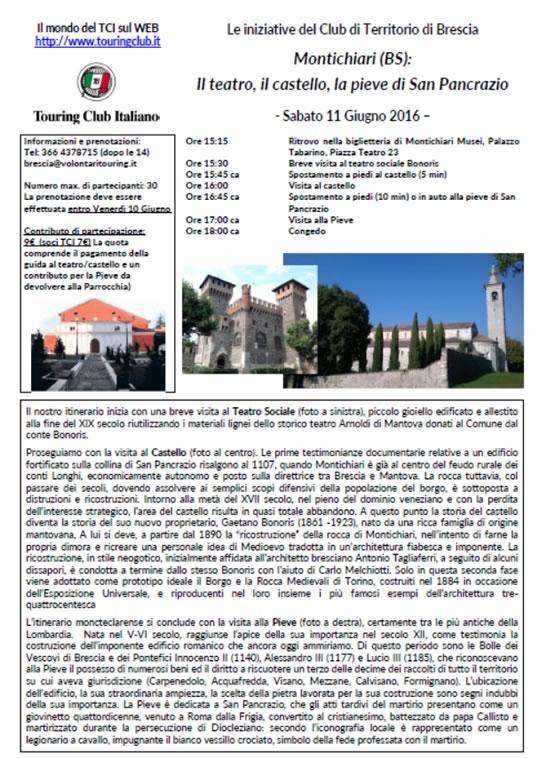 Teatro Castello Pieve di San Pancrazio con TCI
