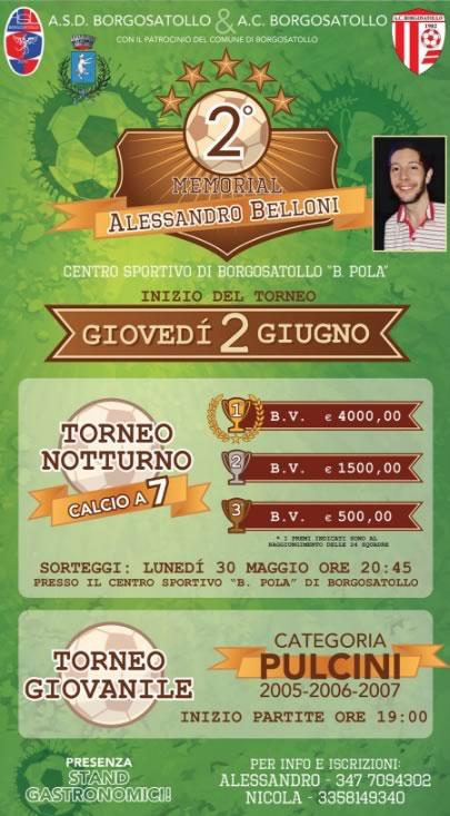 Torneo Memorial Alessandro Belloni a Borgosatollo