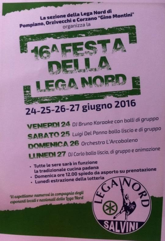 16 Festa della Lega Nord a Pompiano