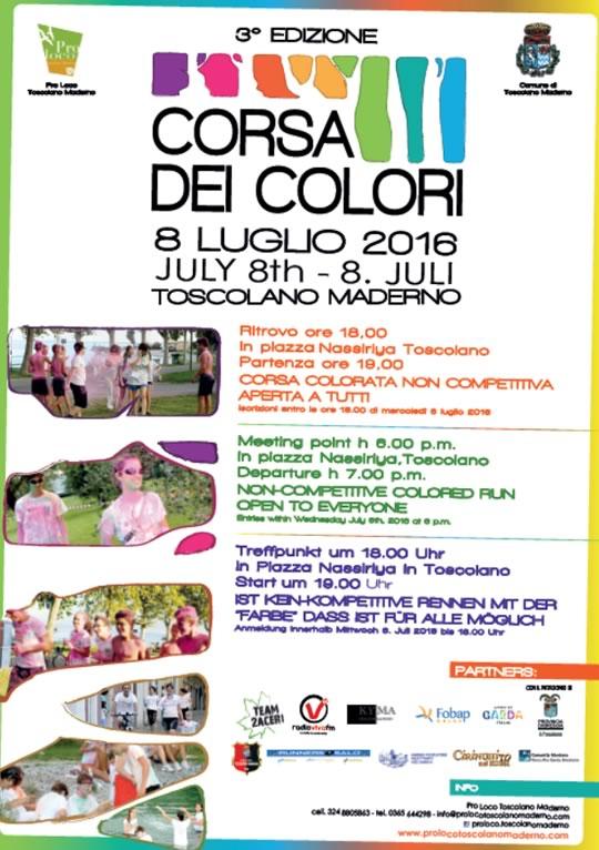 3° Corsa dei Colori a Toscolano Maderno